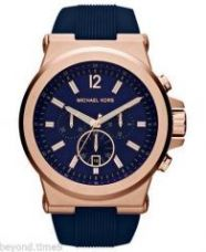 Imported Michael Kors Mk-8295 Dylan Blue Rose Gold Silicon Men's Chronograph Wrist Watch for Rs. 5,750