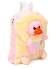 IR Duck Plush School Bag - Cream Pink for Rs. 359