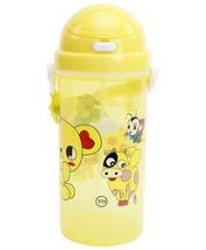 Buy Fab N Funky Yellow Push Button Sipper Bottle with from FirstCry