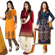 Buy One Get Two Free Crepe Unstitched Salwar Suit Prlt2005-6-7 for Rs. 799