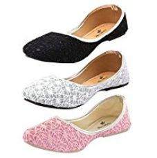 Buy Thari Choice Woman and Girls Flat Belly shoes (Pack of 3) from Amazon