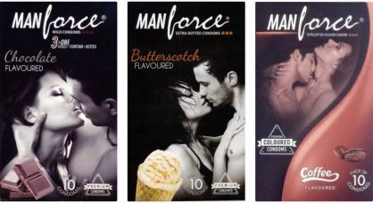 Flat 28% off on Manforce Chocolate, Butterscotch, Coffee Condom(Set of 3, 30S)