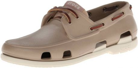 Buy Crocs Beach Line Boat Shoe For Men  (Brown) from Flipkart