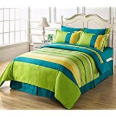 HighLife Ahmedabad Cotton Superior Cotton Double Bedsheet With 2 Pillow Covers - Blue/Green for Rs. 499