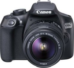 Buy Canon EOS 1300D DSLR Camera Body with Single Lens: EF-S 18-55 IS II (16 GB SD Card + Camera Bag)  (Black) for Rs. 25,490