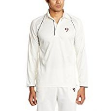 SG Premium Full Sleeves Cricket Shirt, Extra Large (White) for Rs. 699