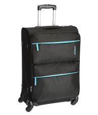 Buy American Tourister Velocity Black 4 Wheel Soft Luggage-Size: Medium for Rs. 4,576