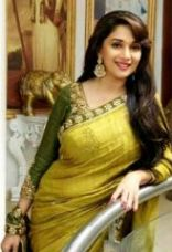 Flat 81% off on Try And Get Bollywood Replica Madhuri Dixit Green Fancy Designer Saree