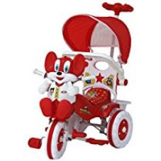 Buy Amardeep and Co Baby Tricycle Red 86*64*33 cms 1-3 yrs W/Shade and Parental Control  - Red-1522MZ from Amazon