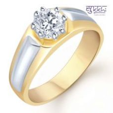 Flat 80% off on Sukkhi Gold And Rhodium Plated Solitaire Cz Ring For Men ( 133grk590)