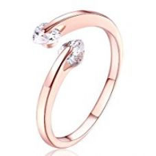 Buy Karatcart Rose Goldplated Heart Cut Austrian Crystal Adjustable Ring For Women from Amazon