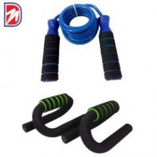 Get 80% off on Deemark Push Up Bar With Skipping Rope Combo Offer