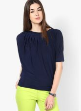 Mayra Blue Solid Blouse for Rs. 569