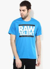 Buy Adidas Raw Talents Blue Round Neck T-Shirt from Jabong