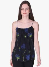 Buy Label Ritu Kumar Navy Blue Printed Strappy Top for Rs. 880