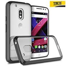 Taslar Moto G Play, 4Th Gen, Crystal Clear Ultra Slim Anti Scratch Case With Clear Back Acrylic Hard Panel Protective Case Cover For Motorola Moto G4 Play - Black for Rs. 299