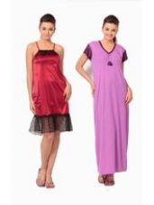 Buy Klamotten Satin Short Nighty, multicolor from Infibeam