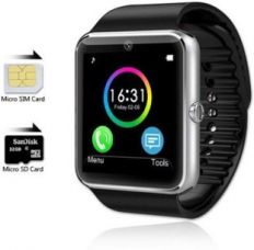 Flat 79% off on Influx ™ GT08 Bluetooth Smartwear Mobile Phone GSM SIM Card Silver Smartwatch  (Black Strap Free)