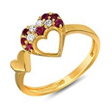 Buy Mahi Gold Crystal Ring For Women from Amazon