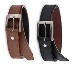 Get 51% off on Pack Of 2 Italian Leather Men's Belt