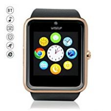 """Buy Wiseupâ""""¢ GT08 Bluetooth Smart Watch Mobile Phone with SIM Card GSM GPRS for Android Samsung HTC (gold) from Amazon"""