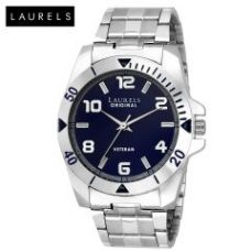 Laurels Large Size Polo Blue Dial Men's Watch - Lo-polo-504 for Rs. 349