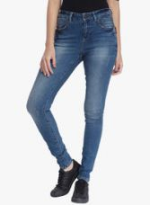 Buy Vero Moda Blue Washed Mid Rise Slim Fit Jeans for Rs. 2250