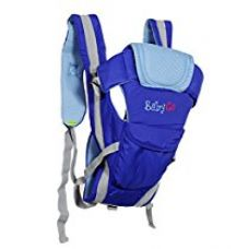 Buy BabyGo Soft Breathable Adjustable Hands-Free 4-in-1 Baby Carrier with Comfortable Head Support & Buckle Straps (Blue) from Amazon