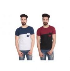 Stylogue Trendy T-shirt For Men (Combo of 2) for Rs. 299