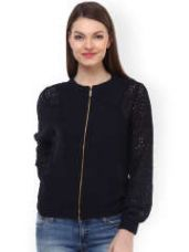 Buy Lace Bomber Jacket from Myntra