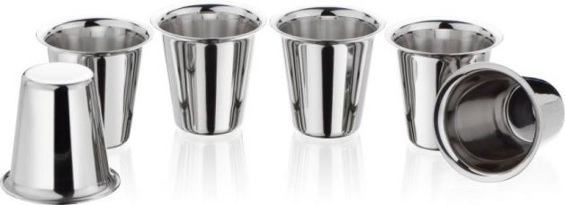 Bhalaria Glass Set  (140 ml, Steel, Pack of 6) for Rs. 324