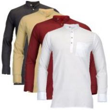 Get 70% off on Feed Up Men's Cotton Kurta Pack Of 4