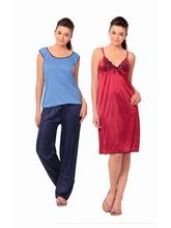 Get 70% off on Klamotten Satin Set of Long Nightsuit, multicolor