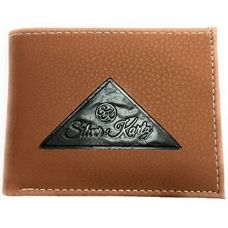 Buy Silver Kartz Men's Tan Tri-Log Smoothe Genuine Leather Wallet (taj-008) from Amazon