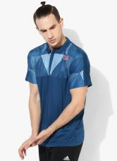 Buy Adidas Pro Blue Polo T-Shirt from Jabong