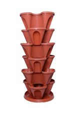 Malhotra Plastic Plastic Stack-A-Pot for Floor Set (Terracotta, 7-Pieces) for Rs. 1,500