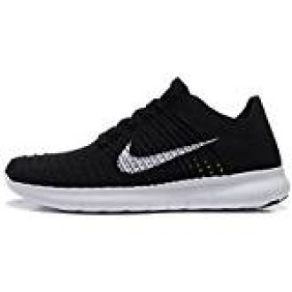 42fe32d1b212 Buy NIKE FREE RN FLYKNIT MENS BLACK WHITE RUNNING SHOES (10) from Amazon