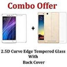 Cellwallproâ® Red Mi 4A Back Case Cover With Mi4A Tempered Gass Screen Protector Back Case Cover With Tempared Glass Combo Kit For Redmi 4A for Rs. 245