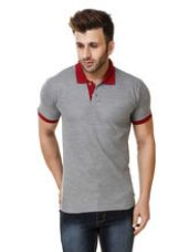 Buy Austin-M Solid Mens Polo Neck T-Shirt (MT_ 001), g for Rs. 359