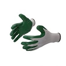 Klaxon Nylon Safety Hand Gloves (White and Grey, Pair of 1) for Rs. 198