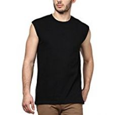 Flat 75% off on Inkovy Men's Sleeveless (Black_Large)