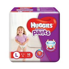 Huggies Wonder Pants Large Diapers (16 Count) for Rs. 225