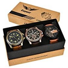 Espoir Combo of 3 Cool Blk Kranti Analogue Multicolor Dial Mens Watches-Combo Cool Blk Kranti for Rs. 599
