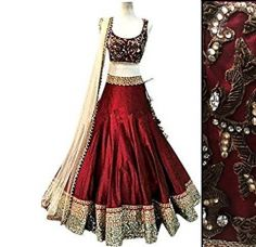 Buy Ladies4Zone Women's Benglory Silk Red Lehenga Choli(KK2374) from Amazon