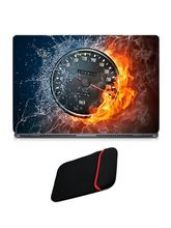 Skin Yard Cool Fire Digital Meter Laptop Skin with for Rs. 199