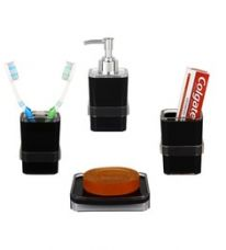 Buy Regis Black Acrylic Accessories Set - Set of 4 for Rs. 799