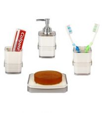 Regis Ivory Acrylic Accessories Set - Set of 4 for Rs. 799