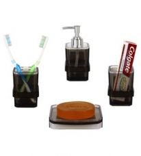 Buy Regis Transparent Acrylic Accessories Set - Set of 4 from PepperFry
