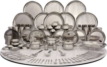 Buy Shri & Sam Pack of 101 Dinner Set  (Stainless Steel) from Flipkart