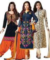 Buy Buy One Get Two Crepe Unstitched Salwar Suit PRLT2001-07-15 for Rs. 799
